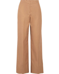 Maslin cotton poplin wide leg pants sand medium 5219826