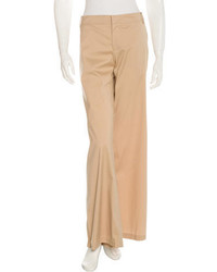 Gucci Mid Rise Wide Leg Pants