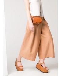 Mango Outlet Premium Wrap Palazzo Trousers
