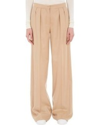 Edun Pleated Wide Leg Flannel Trousers