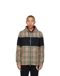 Burberry Beige And Red Vintage Check Shropshire Anorak Jacket