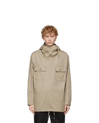 Engineered Garments Beige Twill Cagoule Hooded Shirt