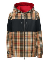 Burberry Shropshire Reversible Check Hooded Jacket