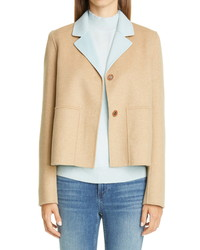 Lafayette 148 New York Andover Reversible Wool Cashmere Jacket