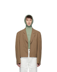 Ambush Beige Short Zip Blazer