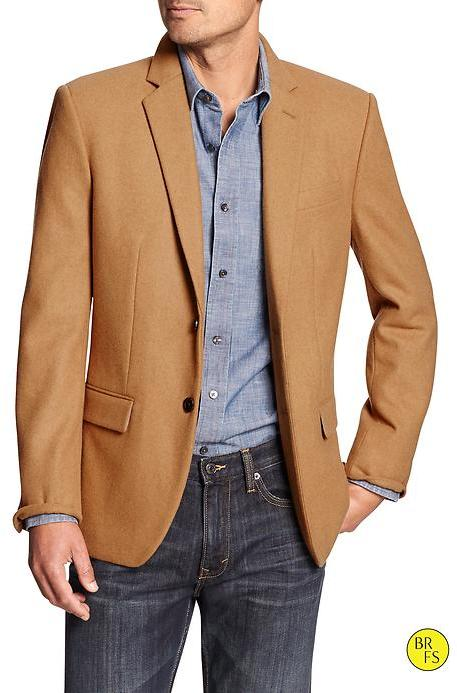 Banana Republic Factory Tailored Fit Camel Hair Blazer | Where to ...