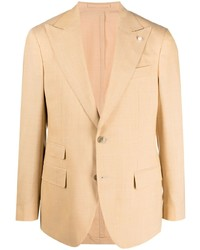 Luigi Bianchi Mantova Single Breasted Wool Blazer