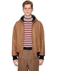 Marni Hooded Wool Bomber Jacket