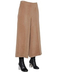 Maison Margiela Wide Leg Fur Effect Alpaca Wool Pants