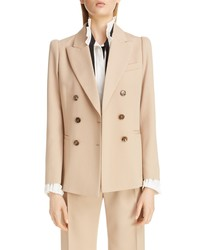 Chloé Double Breasted Stretch Wool Blazer