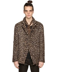 Leopard double breasted wool jacket medium 4416784