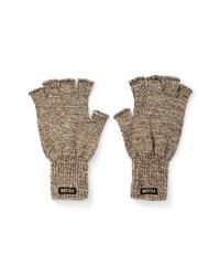 Filson Fingerless Wool Blend Knit Gloves