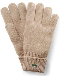 Lacoste Knitted Wool Gloves