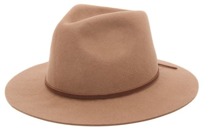 Brixton Wesley Tan Wool Brim Hat
