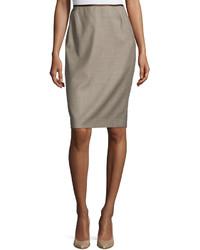Lafayette 148 New York Mason Modern Slim Pencil Skirt Multi