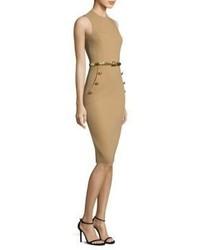 Michl kors collection wool sheath dress medium 3733082