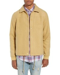 Tan Wool Shirt Jacket