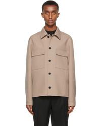 Jil Sander Beige Wool Double Faced Shirt Jacket