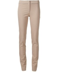 Tan Wool Skinny Pants