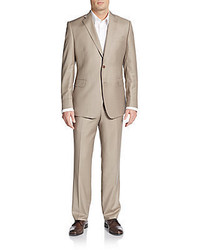 Saks Fifth Avenue Slim Fit Wool Silk Two Button Suit