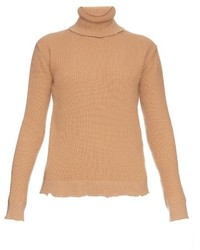 Valentino Roll Neck Wool And Cashmere Blend Sweater
