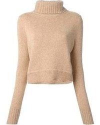 Tan Wool Turtleneck