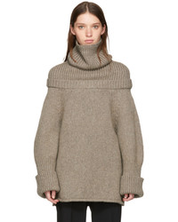 J.W.Anderson Jw Anderson Taupe Wool Turtleneck