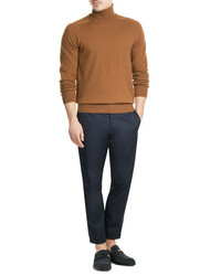 Ami Merino Wool Turtleneck With Cashmere