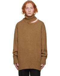 Y/Project Tan Alpaca Double Neck Sweater