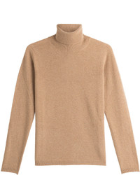 Virgin wool turtleneck pullover with cashmere medium 850299