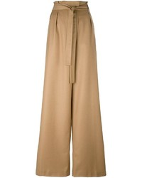 MSGM Pleated Front Wide Leg Trousers