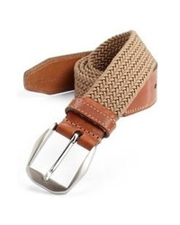 Tan Woven Canvas Belt