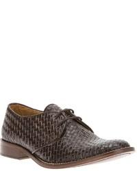 Daniele Alessandrini Woven Oxford Shoe