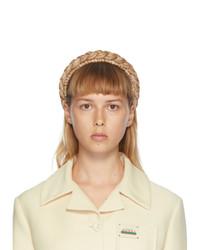 Gucci Beige Woven Straw Headband