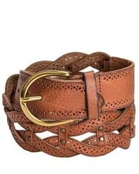 Danbury Braided Leather Belt Tan