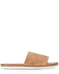 Casadei Woven Slider Sandals