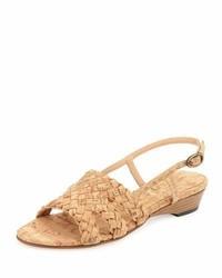 Gennie woven cork slingback sandal natural medium 1149352