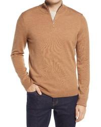 Nordstrom Men's Shop Nordstrom Washable Merino Quarter Zip Sweater