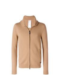 Tan Zip Sweater