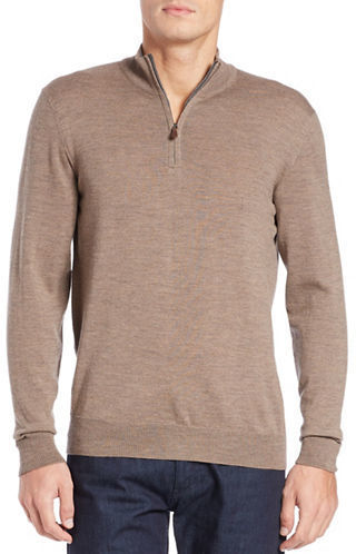 Black Brown 1826 Front Zip Merino Wool Sweater | Where to buy ...