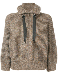 Brunello Cucinelli Zipped Knitted Cardigan