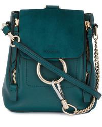 Chloé Mini Teal Green Leather Faye Backpack