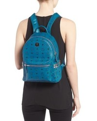 2beaa9a272240 ... MCM Small Stark Side Stud Backpack Blue