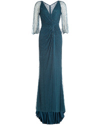 Jenny Packham Beaded Evening Gown