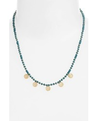 Anna Beck Blue Quartz Reversible Beaded Necklace