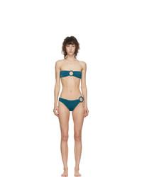 Oseree Blue Lurex Less Ring Bikini