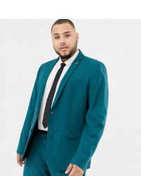 Farah Smart Farah Henderson Skinny Suit Jacket In Teal