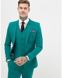 ASOS DESIGN Super Skinny Suit Jacket In Green