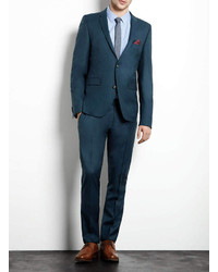 Topman Teal Ultra Skinny Suit Jacket | Where to buy & how to wear
