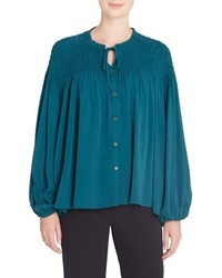 Catherine Malandrino Catherine Julie Shirred Blouse